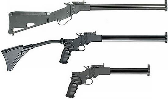 Сверху - вниз: M6 Scout, M6 Scout Carbine, M6 Scout Pistol