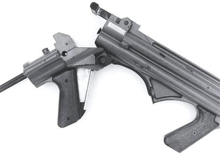 Liberator Mark II при перезаряжании