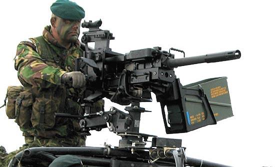 HK GMG установленный на боевой машине