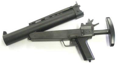 НK69 дульная часть ствола откинута для перезарядки