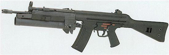 HK79 установленный на винтовке HK33