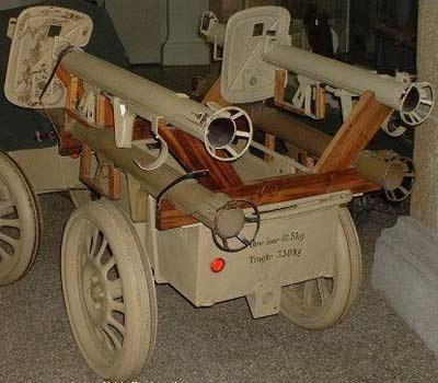 специальная тележка для транспортировки ружей и боеприпасов Panzerschreck