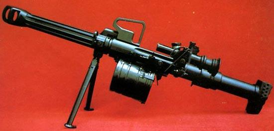 QLZ-87 на сошках с барабаном на 6 выстрелов
