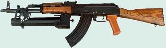 Wz. 1974 Pallad установленный на польском автомате Kbk-AK