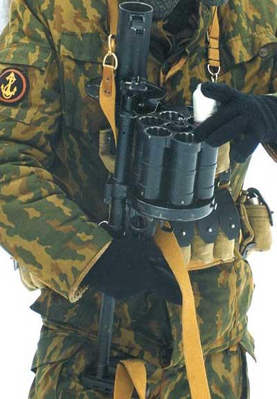 РГ-6 при заряжании