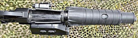 GLX-160 при перезаряжании вид снизу