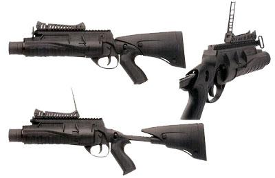 Beretta GLX-160 в качестве ручного гранатомета