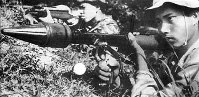 РПГ-2 используемый вьетнамским бойцом