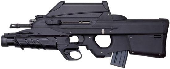 штурмовая винтовка FN F2000 с установленным подствольным гранатометом FN GL1 вместо цевья