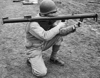 М1 при стрельбе