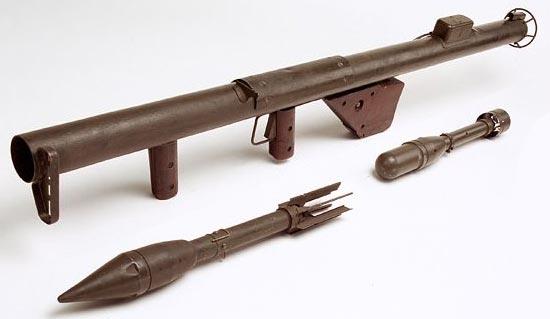 M1 «Bazooka» с используемыми боеприпасами