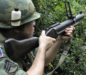 М79 при стрельбе
