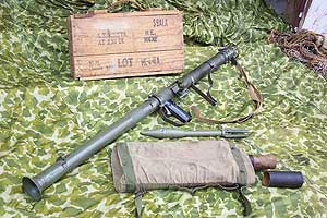 М9 вьюк для переноски реактивных гранат, укупорочный ящик и граната M6A1