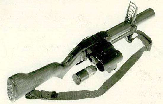 T148E1 с прицельными приспособлениями от XM79