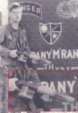 гранатомет Т148Е1 в руках американского солдата