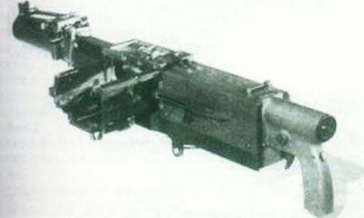 XM174 в походном положении