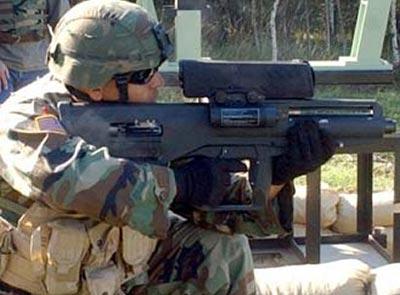 ХМ25 при стрельбе