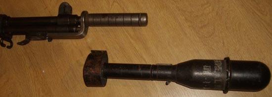 М7 с используемой гранатой