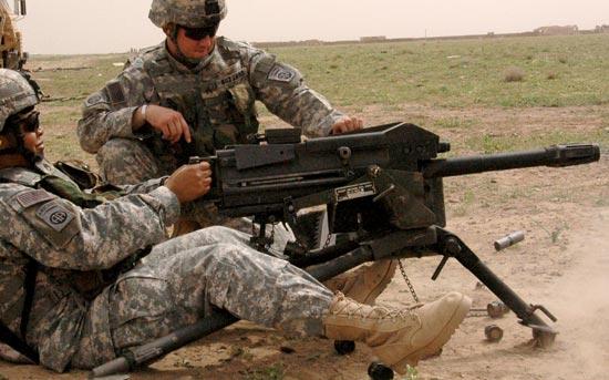 Mk.19 mod.3 при стрельбе