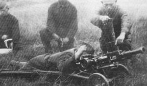 испытания автоматического гранатомета Таубина в 1938 году