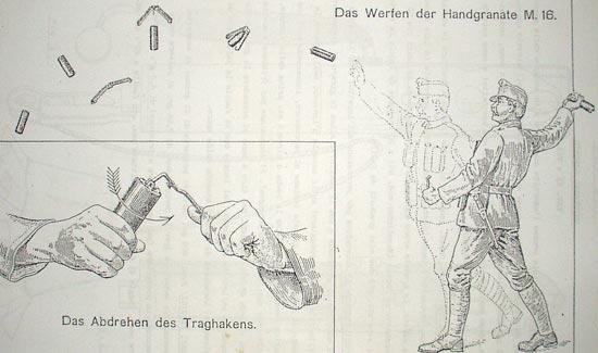 Handgranate M 16 / Sigaro при метании