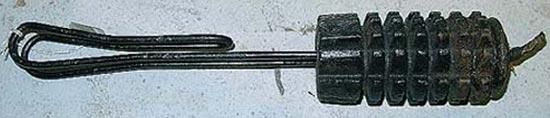 Zeitzünderhandgranate с ручкой из железной проволоки