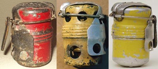 осколочная SRCM 35 (слева) и дымовые гранаты № 1 и № 2