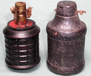 Type 97 боевая (слева) учебная (справа)