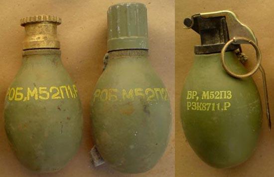 М52 П1, М52 П2, М52 П3 (слева-направо)