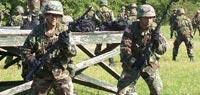 Обучение солдат обращению со штыком