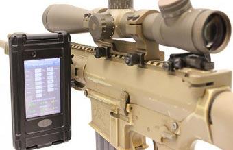 iPod Touch, установленный на снайперскую винтовку M110