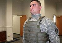 Военнослужащий армии США в бронежилете
