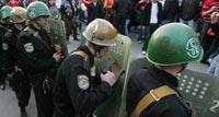 Разгон демонстрантов в Кишиневе