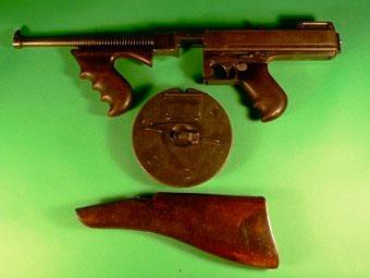 Выставленный на торги пистолет-пулемет Томпсона