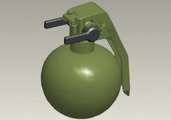 Вращающийся рычаг вместо чеки позволяет легко перевести гранату из боевого в транспортное положение и обеспечивает удобство пользования любой рукой
