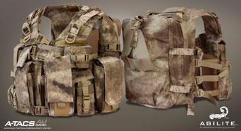 Разгрузочный жилет Agilite Tactical Hi-Vest в камуфляже A-TACS AU