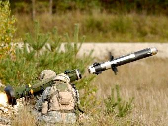 Пуск ракеты Javelin