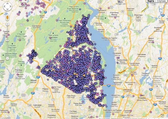 В интернете стали доступны карты с адресами владельцев оружия