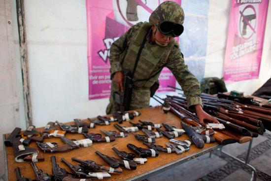 В Мексике оружие меняют на компьютеры и велосипеды
