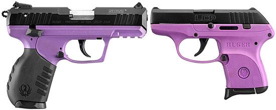 Пара фиолетовых пистолетов