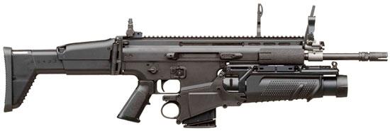 FN SCAR-H с подствольным гранатометом