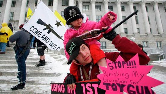 В США протестуют против ужесточения закона об оружии
