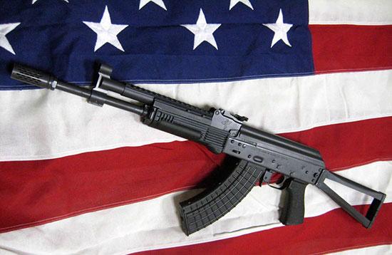 Высококачественный АК сборки Rifle Dynamics на американском флаге