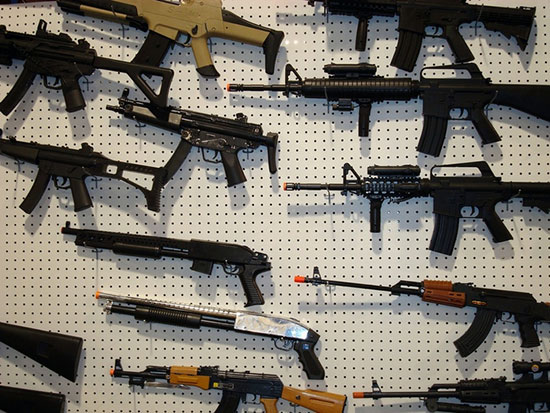 Образцы игрушечного оружия