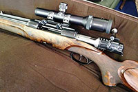 Austrian Fuchs-Fine .416 Remington Magnum Double-Barreled Bolt-Action Rifle