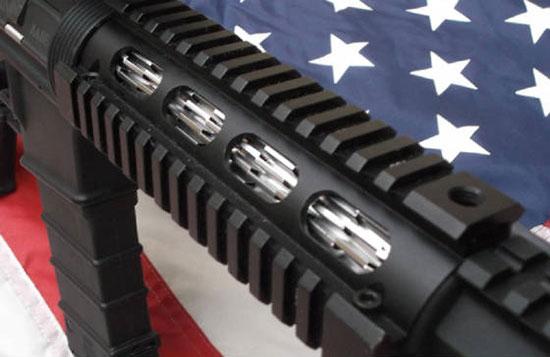 Охлаждающее оребрение для ствола винтовки AR-15