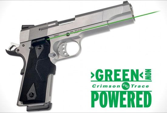 Зеленый ЛЦУ для пистолетов 1911 от Crimson Trace