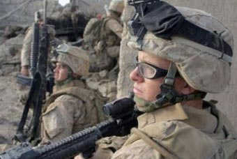 Морские пехотинцы США в шлемах LWH