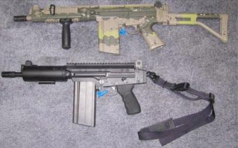 короткоствольная винтовка и пистолет на основе FN FAL