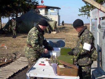 Военнослужащие украинской армии на учениях